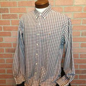 Ralph Lauren Button Front plaid shirt XL (M56)
